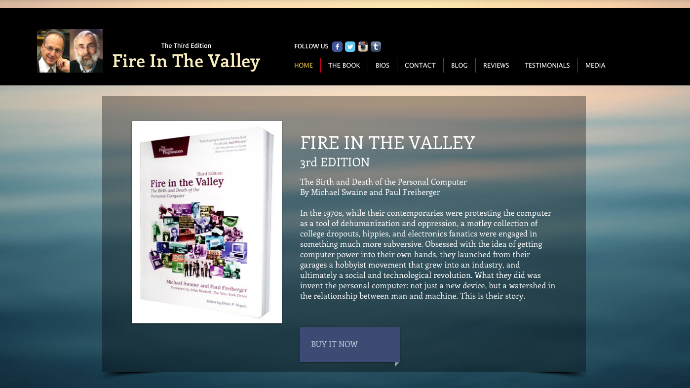 Fire in the Valley homepage