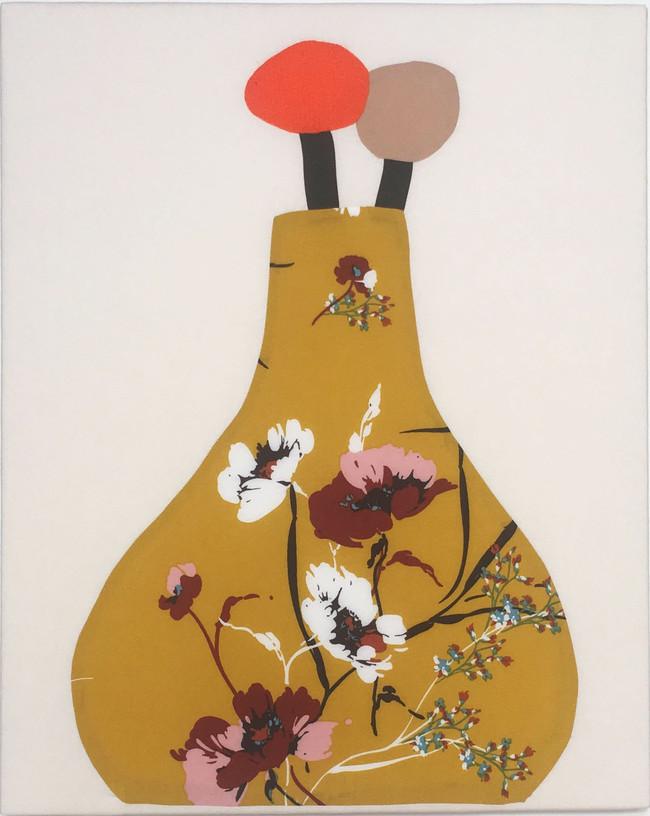 Mustard Yellow Vase No1