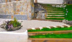 Escalera Terraza con Cascada de agua