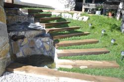 Escalera Terraza y Cascadas de Agua