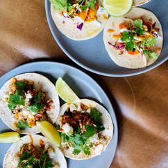 Chicken Tinga and Spicy Shrimp Tacos