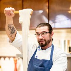 Chef Lee Hand Pulling Mozzarella