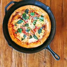 Cast Iron Margarita Pizza