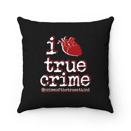 i heart true crime Pillow