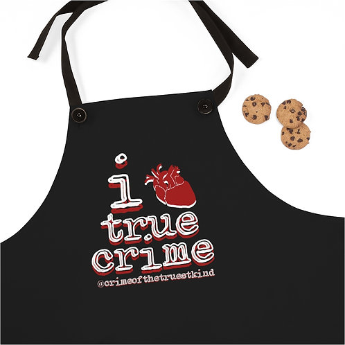 i heart true crime apron
