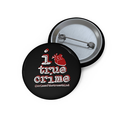 i heart true crime pins