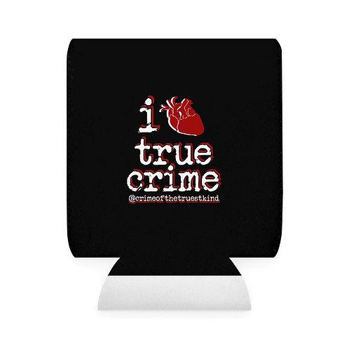 i heart true crime koozie