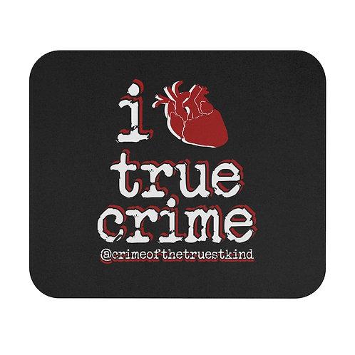 i heart true crime mouse pad
