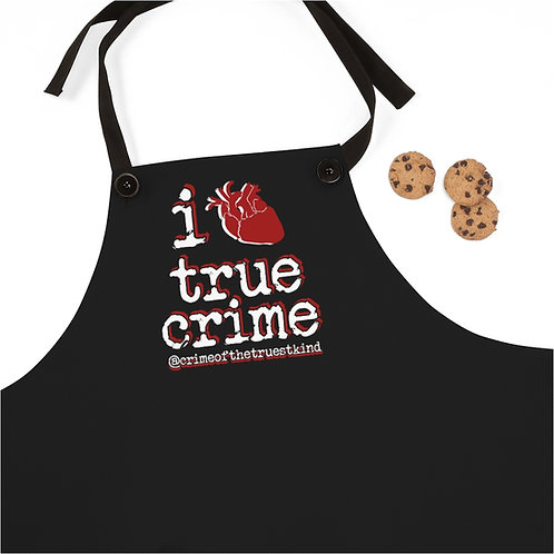i heart true crime apron