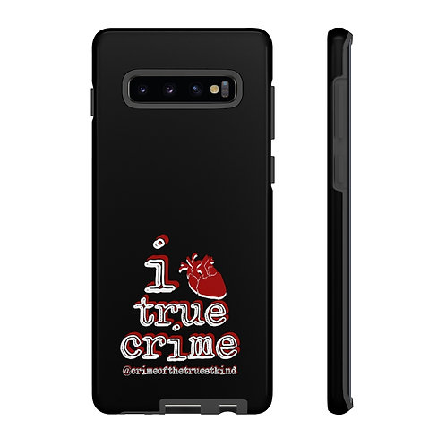 I Heart True Crime Phone Case