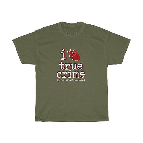 i heart true crime tee