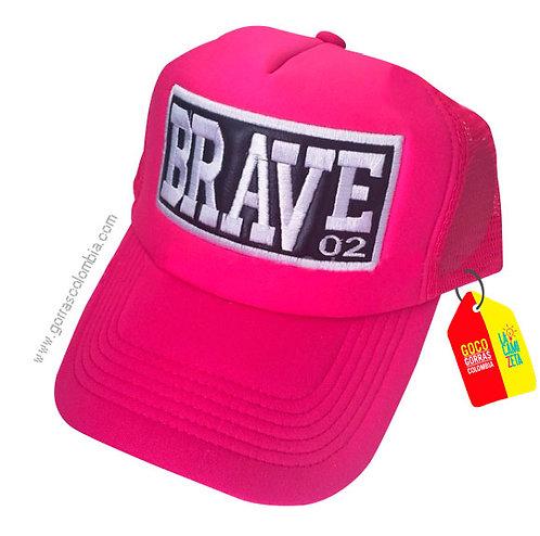 gorra fucsia unicolor personalizada brave