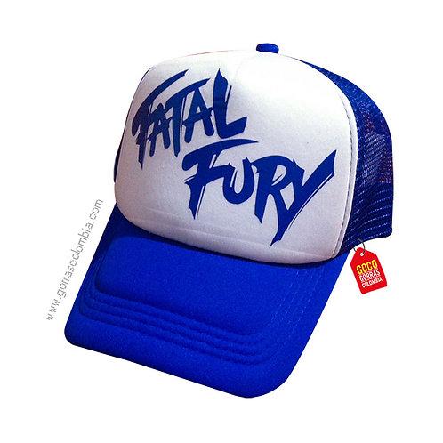gorra azul frente blanco personalizada fatal fury