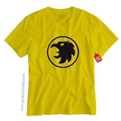 camiseta amarilla de superheroes hombre halcon
