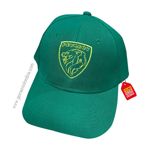 gorra verde unicolor personalizada logo empresa