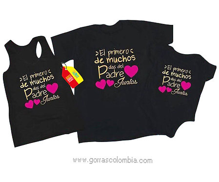 camisetas negras para familia dia del padre