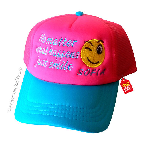 gorra fucsia unicolor para niña just smile