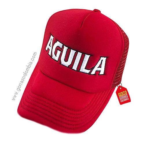 gorra roja unicolor personalizada aguila