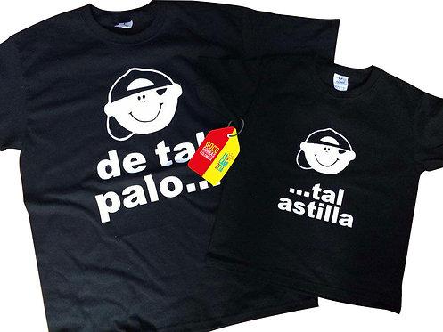 camisetas negras para familia de tal palo tal astilla