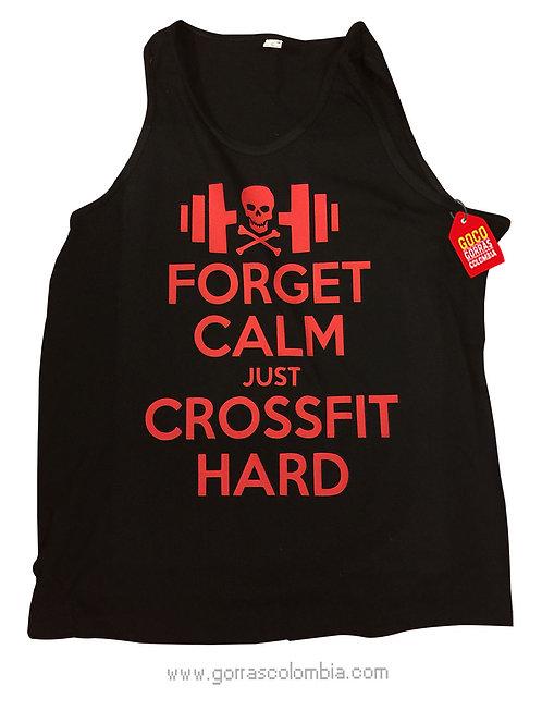 camiseta negra personalizada crossfit hard
