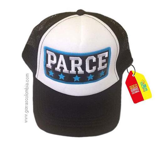 gorra negra frente blanco personalizada parce