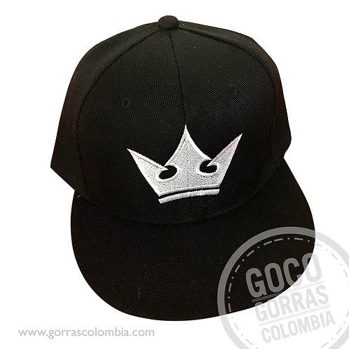 gorra negra unicolor personalizada corona