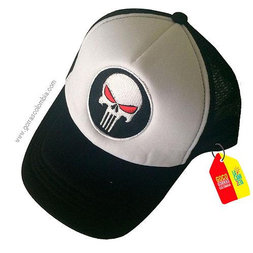 gorra negra frente blanco personalizada punisher