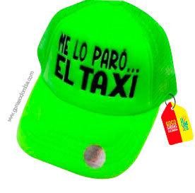 gorra verde unicolor personalizada el taxi