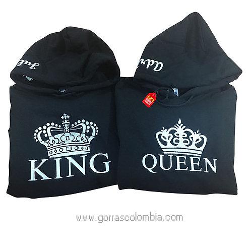 busos negros con capota para pareja king y queen nombres