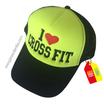 gorra negra frente verde personalizada cross fit