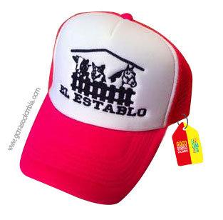gorra fucsia frente blanco personalizada el establo