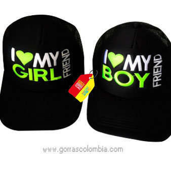 gorras negras unicolor para pareja girlfriend y boyfriend
