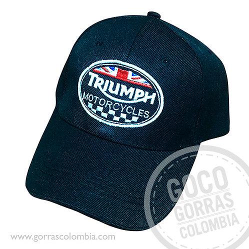 gorra negra unicolor personalizada triumph motorcycles