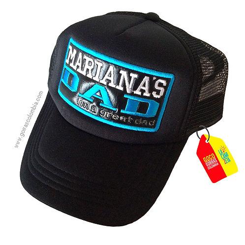 gorra negra unicolor personalizada dad