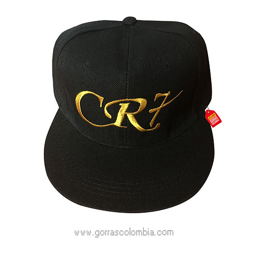 gorra negra unicolor personalizada cr7