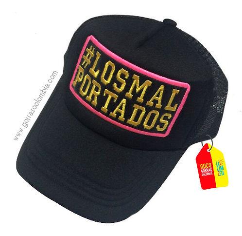 gorra negra unicolor personalizada losmalportados