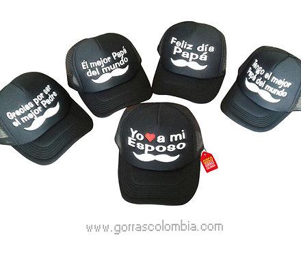 gorras negras unicolor para familia dia del padre