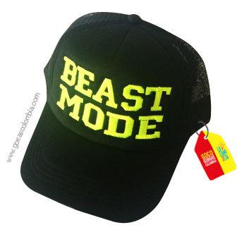 gorra negra unicolor personalizada beast mode