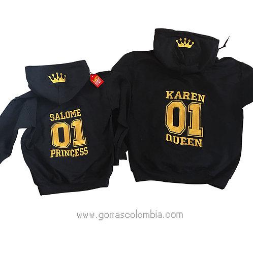 busos negros con capota para familia queen y princess