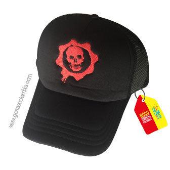 gorra negra unicolor personalizada calabera