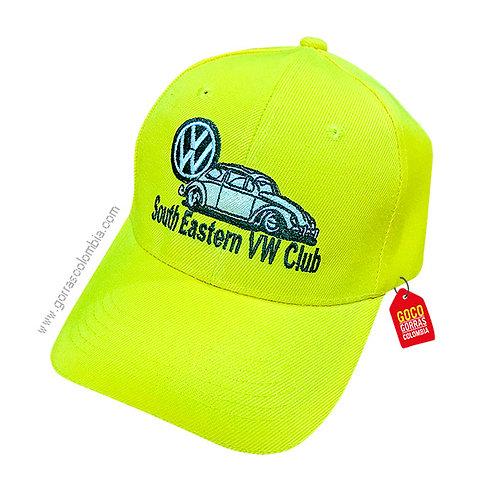 gorra verde neon unicolor personalizada vw club