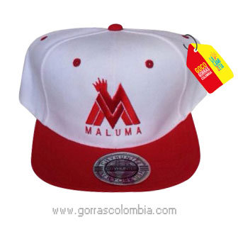 gorra roja frente blanco personalizada maluma