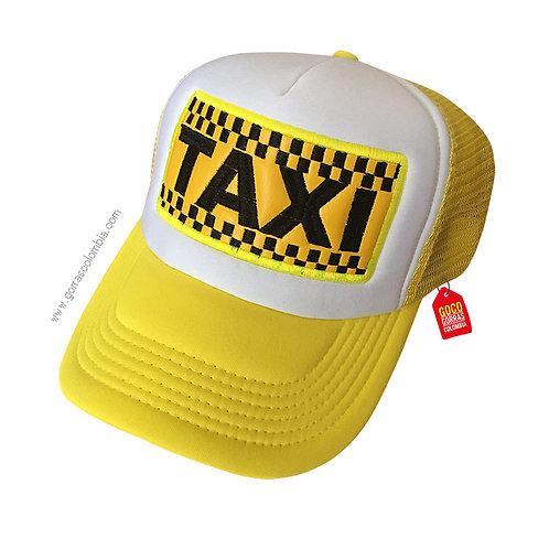 gorra amarilla frente blanco personalizada taxi