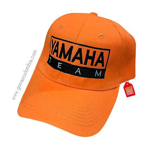 gorra naranja unicolor personalizada yamaha