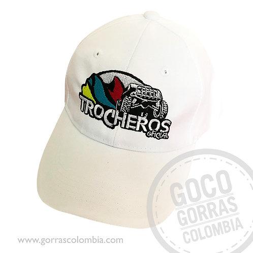 gorra blanca unicolor personalizada trocheros