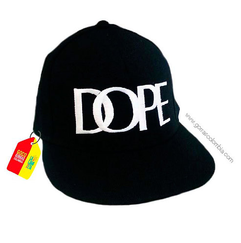 gorra negra unicolor personalizada dope