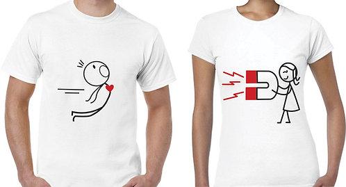camisetas blancas para pareja iman