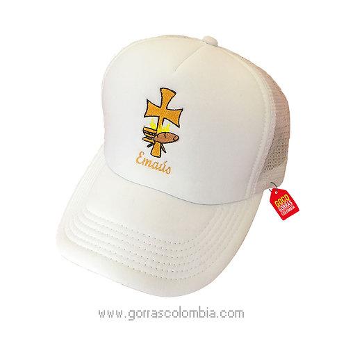 gorra blanca unicolor personalizada cruz