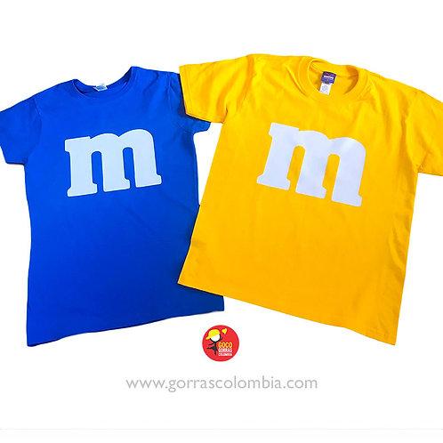 camisetas azul y amarilla para pareja mym