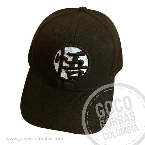 gorra negra unicolor personalizada dragon ball z